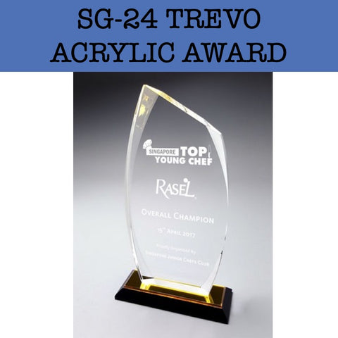 sg-24 trevo acrylic award plaque corporate gifts door gift