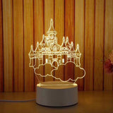 castle custom acrylic led light lamp corporate gifts door gift