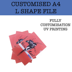 customised a4 l shape file corporate gifts door gifts