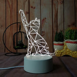 cat custom acrylic led light lamp corporate gifts door gift