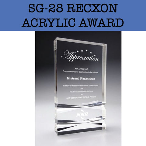 sg-28 recxon acrylic award corporate gifts door gift