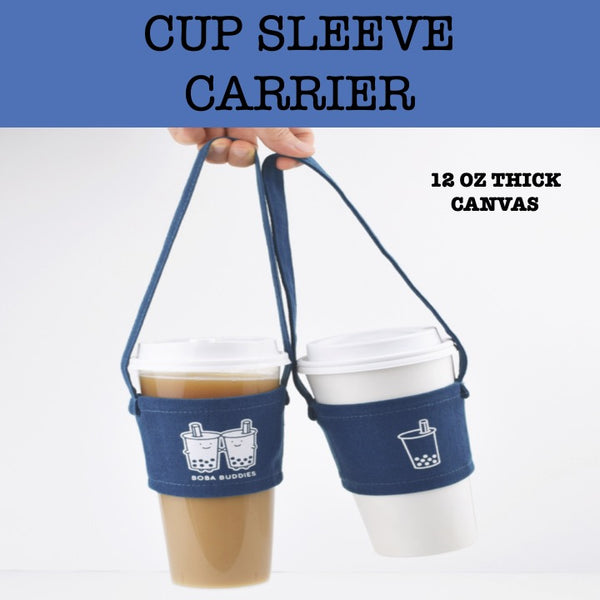 bubble tea beverage canvas carrier holder sleeve corporate gifts door gift