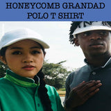 Honeycomb Grandad Polo T Shirt