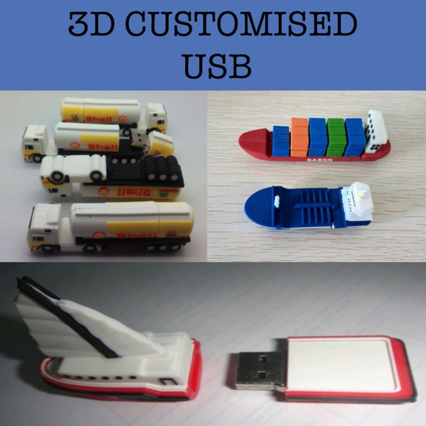 3d custom thumbdrive corporate gifts