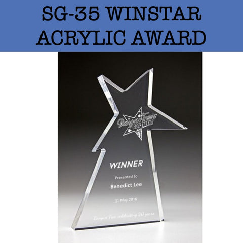 sg-35 winstar acrylic award plaque corporate gifts door gift
