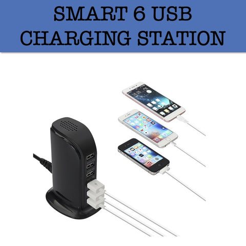 smart 6 usb charging station corporate gifts door gift