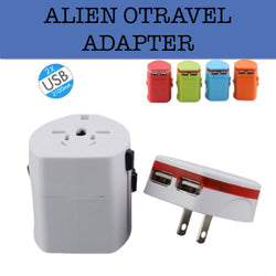 white travel adapter corporate gifts