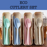 travel eco friendly cutlery set