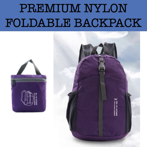 premium nylon foldable backpack door gifts corporate gift
