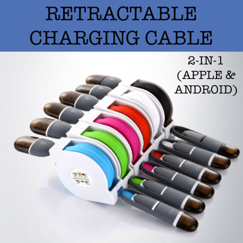 2-IN-1 Retractable Charging Cable (Apple & Android)