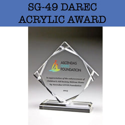 sg-49 darec acrylic award plaques corporate gifts door gift