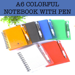 a6 notebook with pen corporate gift
