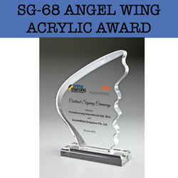 sg-68 angel wing acrylic award plaque corporate gifts door gift
