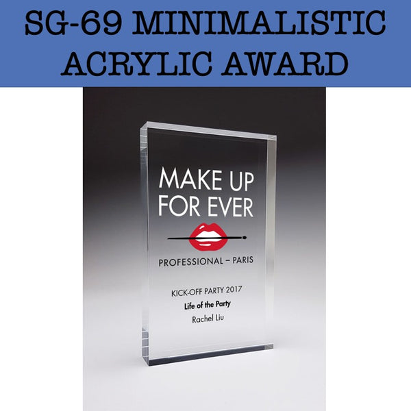 sg-69 minimalistic acrylic award plaque corporate gifts door gift