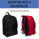 solo backpack bag corporate gifts door gift
