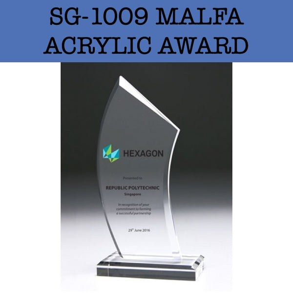 sg-1009 malfa acrylic award plaque corporate gifts door gift
