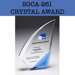 sgca-261 crystal award plaque corporate gifts door gift