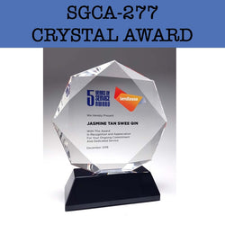 sgca-277 crystal award plaque corporate gifts door gift