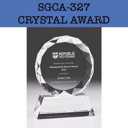 sgca-327 crystal award plaque corporate gifts door gift