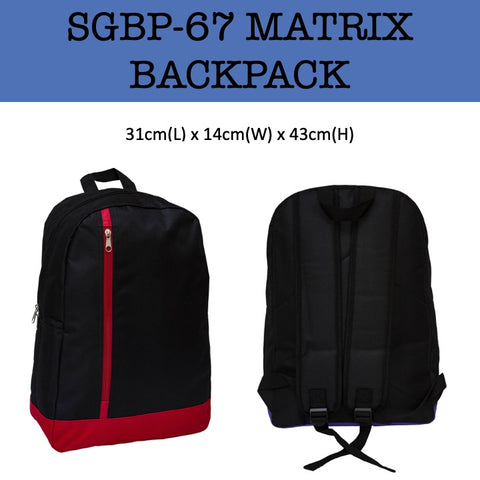 matrix backpack bag corporate gifts door gift