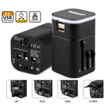 black travel adapter corporate gifts