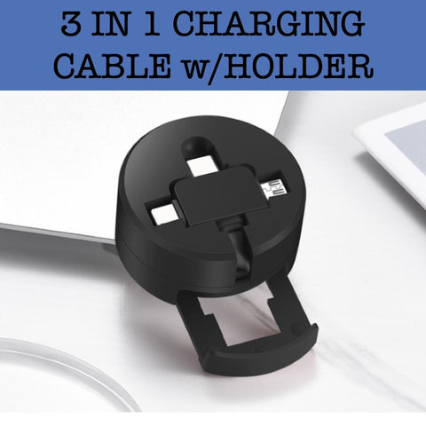 3 in 1 charging cable with phone holder corporate gifts door gift giveaway
