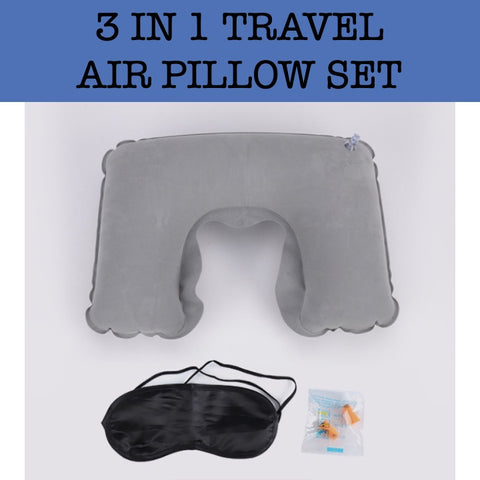3 in 1 travel air pillow set corporate gifts door gift giveaway