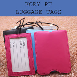kory elastic pu leather luggage tag corporate gifts door gift