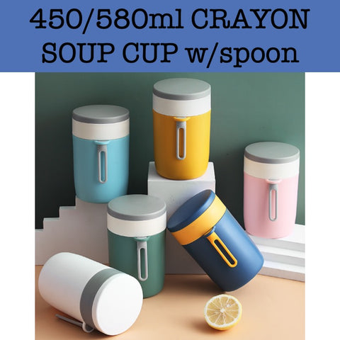 crayon soup cup w/spoon corporate gifts door gift singapore