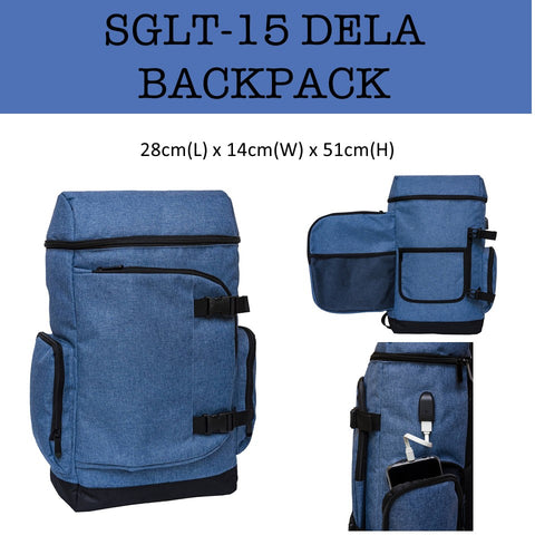 dela backpack laptop bag corporate gifts door gift
