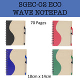 eco friendly wave notepad corporate gifts door gift