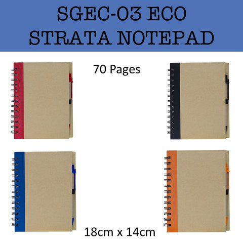 eco friendly strata notepad notebook corporate gifts door gift
