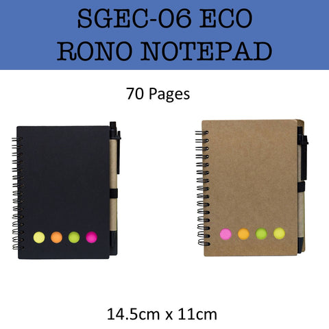 eco friendly rono notepad notebook corporate gifts door gift
