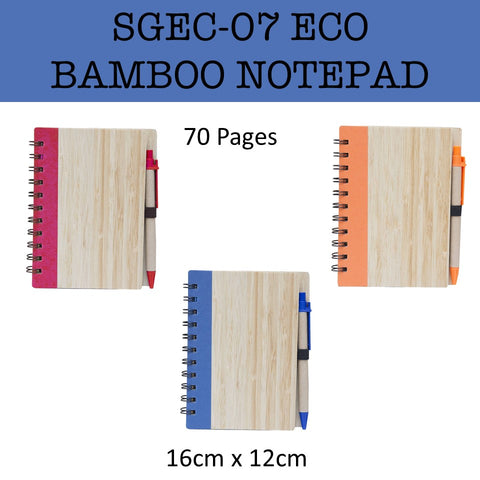 eco friendly bamboo notebook notepad corporate gifts door gift