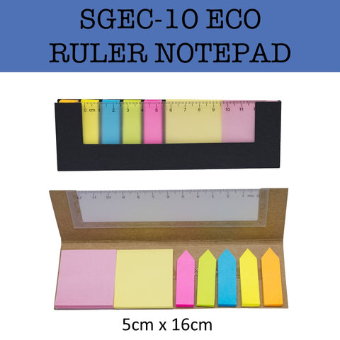 eco friendly ruler notepad notebook corporate gifts door gift