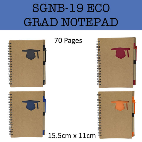 eco friendly grad notebook notepad corporate gifts door gift