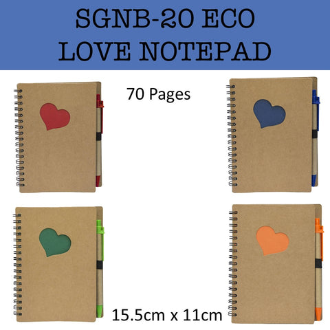 eco friendly love notepad notebook corporate gifts door gift