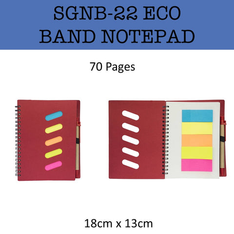 eco friendly band notebook notepad corporate gifts door gift