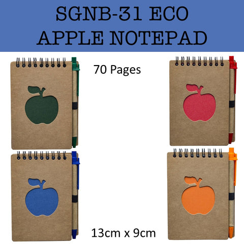 eco friendly apple notepad notebook corporate gifts door gift