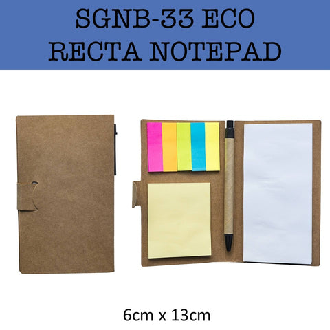 eco friendly recta notepad notebook corporate gifts door gift