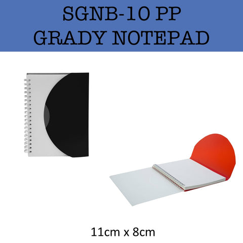 pp grady plastic notepad notebook corporate gifts door gift