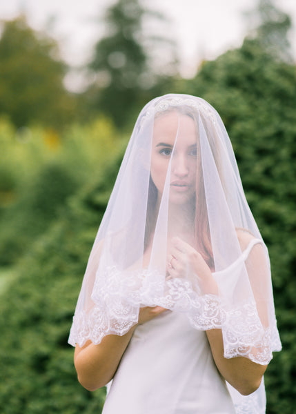 The Bethany Lace Edged Cathedral Veil