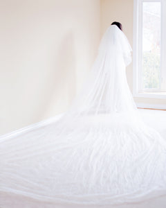 The Bella Classic One Tier Cathedral Veil