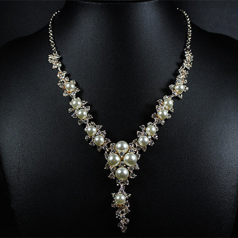 simulated-pearls-necklace-bridal-necklace-rhinestones-crystals-while-pearls-cream-pearls-silver-necklace-beautiful-brides-bridal