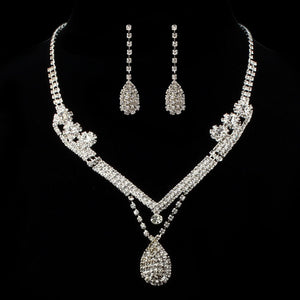 Layered-bridal-jewelry-set-crystal-bridal-necklace-earrings-jewelry-set