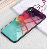 iStylishmall - Luxury Tempered Glass Phone Case For iPhone 7 8 Plus  X XR XS MAX
