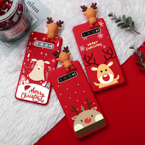 iStylishmall - Christmas Soft TPU Case For Samsung S10 S10E S10Lite S10Plus S9 S8 Plus
