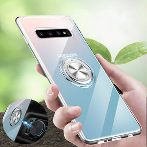 Soft Silicone With Ring Holder Case For Samsung Galaxy S10 5G S10 S10e S9 S8 Plus Note 10 Note 9 Note 8