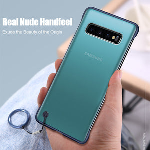 iStylishmall - Frameless Transparent Matte With Finger Ring Case For Samsung Galaxy S10 Plus