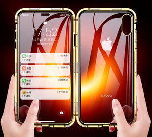 iStylishmall - Double Sided Glass 360 degree Full Cover Case For iphone 7 8 Plus X XS Max Xr